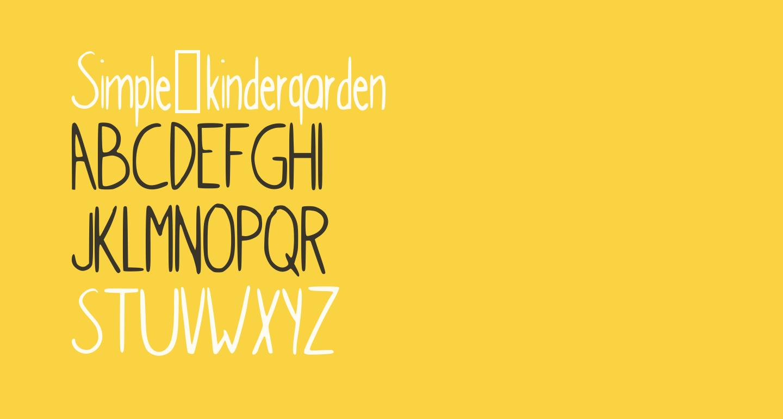 Simple_kindergarden