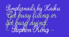 Simplesnails by Haiku