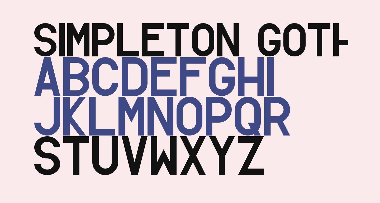 Simpleton Gothic Regular