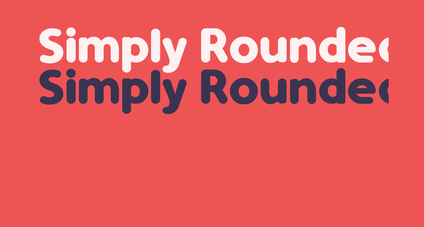 Simply Rounded Bold