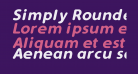 Simply Rounded Italic