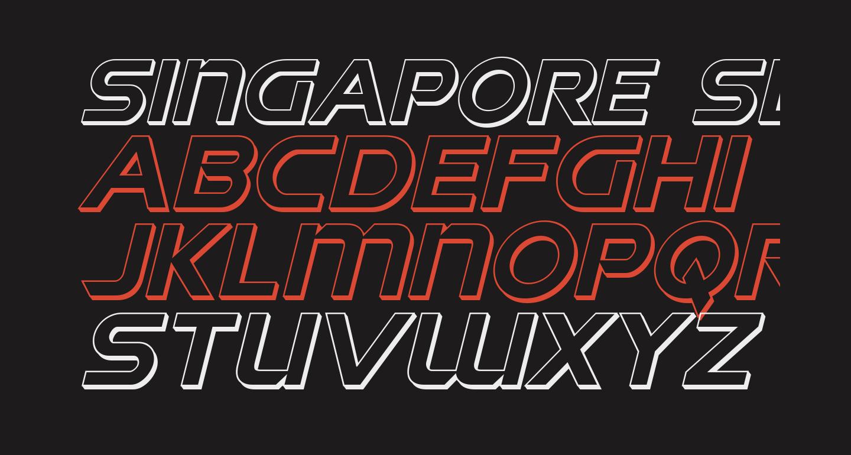 Singapore Sling 3D Italic