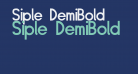 Siple DemiBold