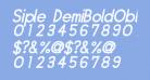 Siple DemiBoldOblique