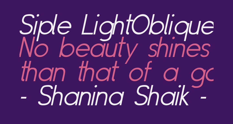 Siple LightOblique