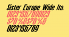 Sister Europe Wide Italic