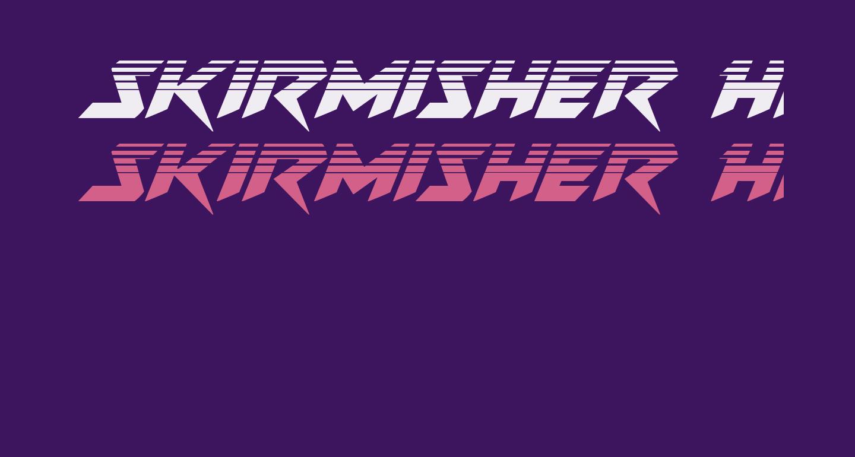 Skirmisher Halftone Italic