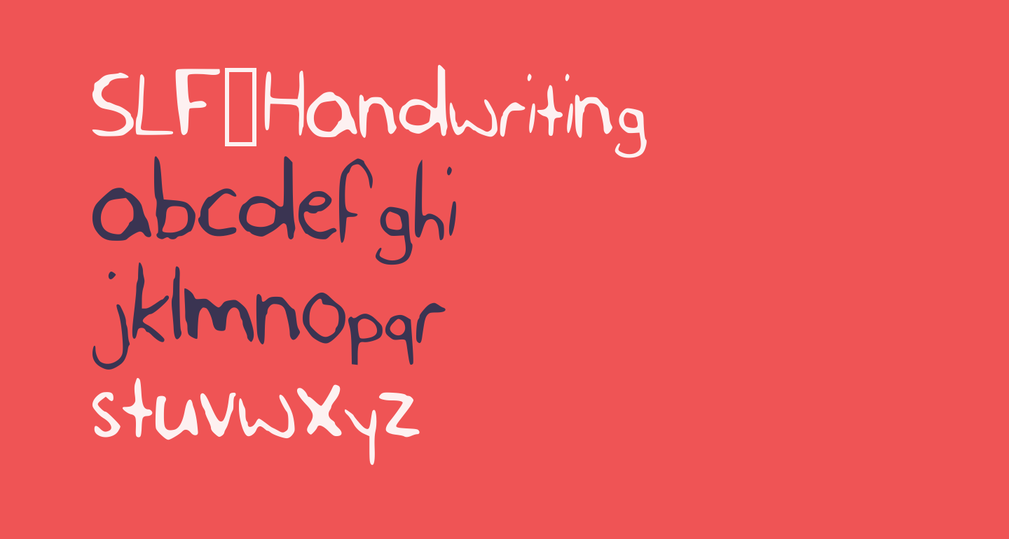 SLF_Handwriting