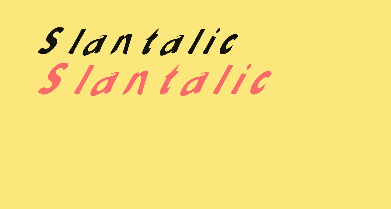 Slantalic