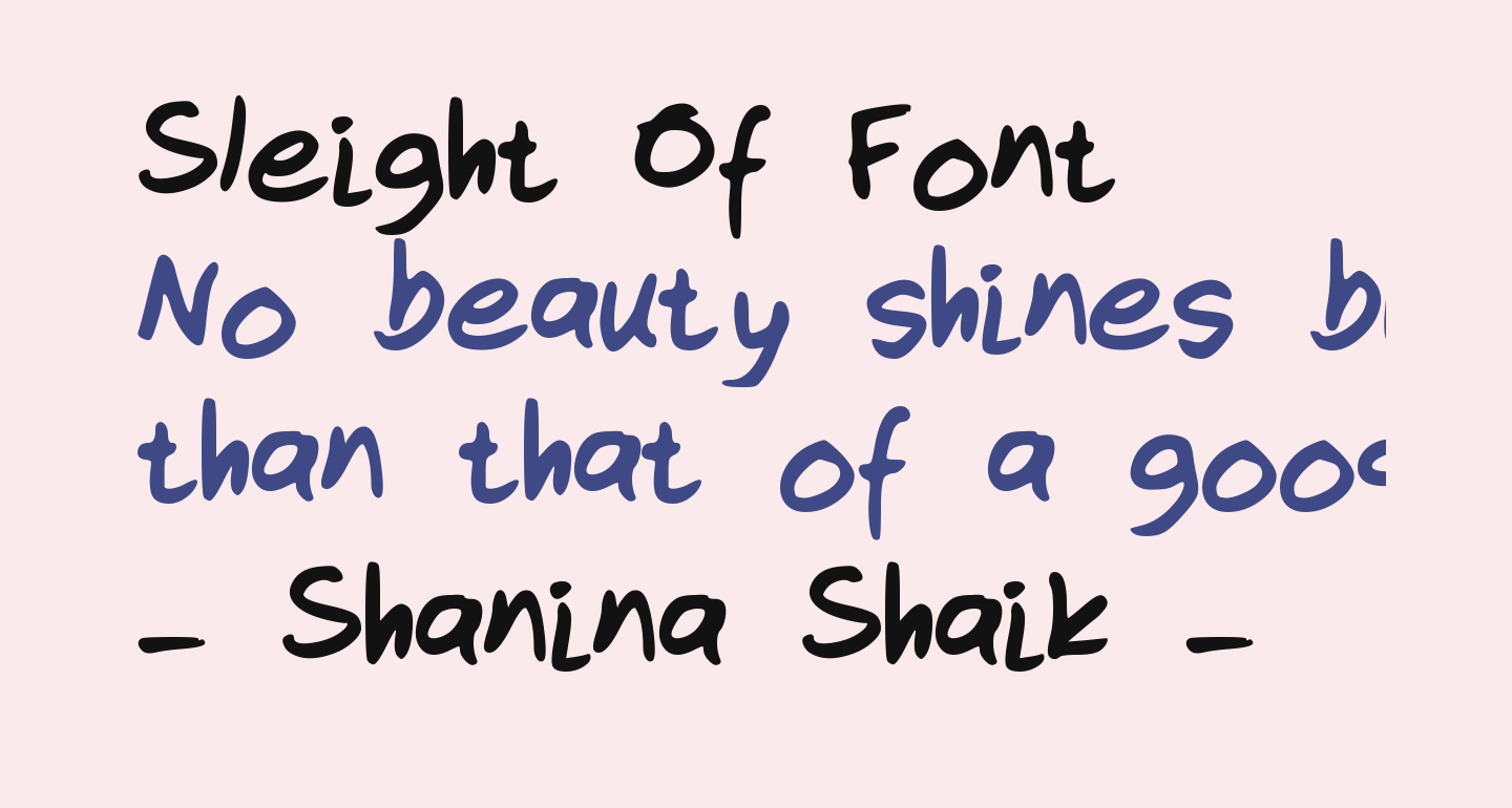 Sleight Of Font