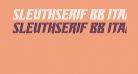 SleuthSerif BB Italic