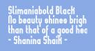 Slimaniabold Black