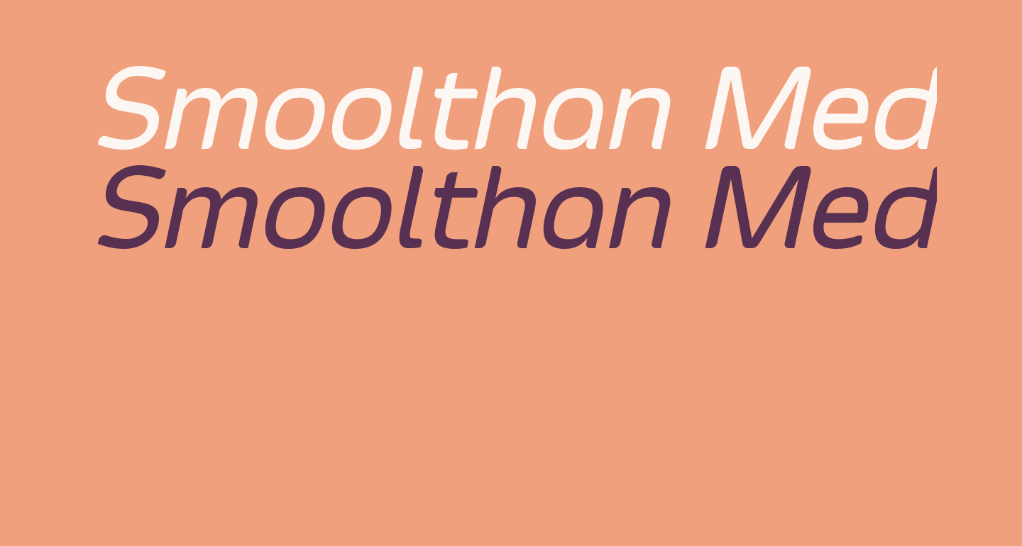 Smoolthan Medium-Italic