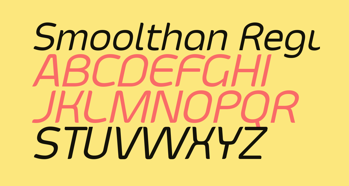 Smoolthan Regular-Italic