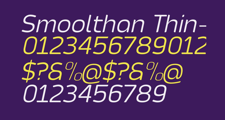 Smoolthan Thin-Italic