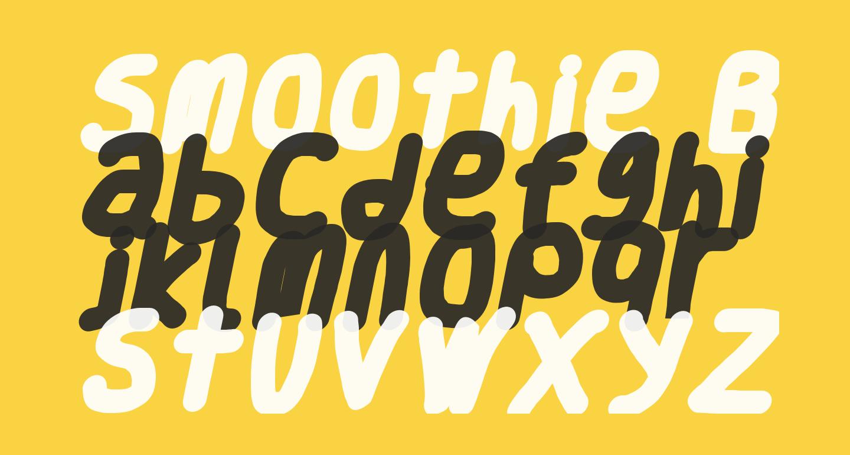 Smoothie Black Italic