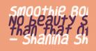 Smoothie Bold Italic