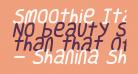 Smoothie Italic