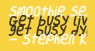 Smoothie SemiBold Italic