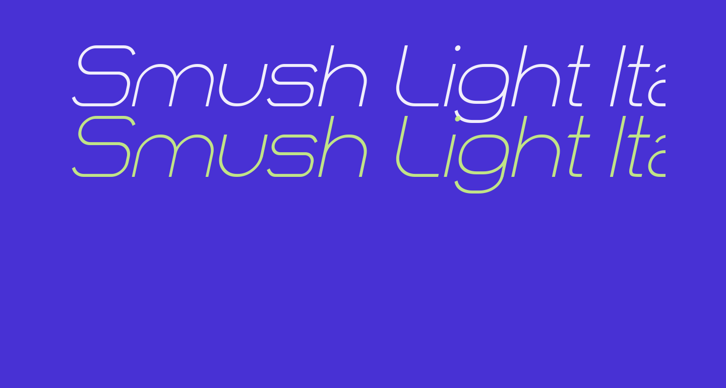 Smush Light Italic