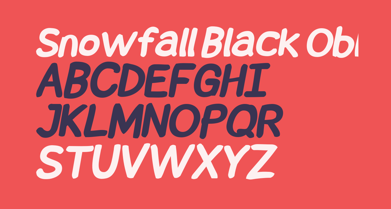 Snowfall Black Oblique