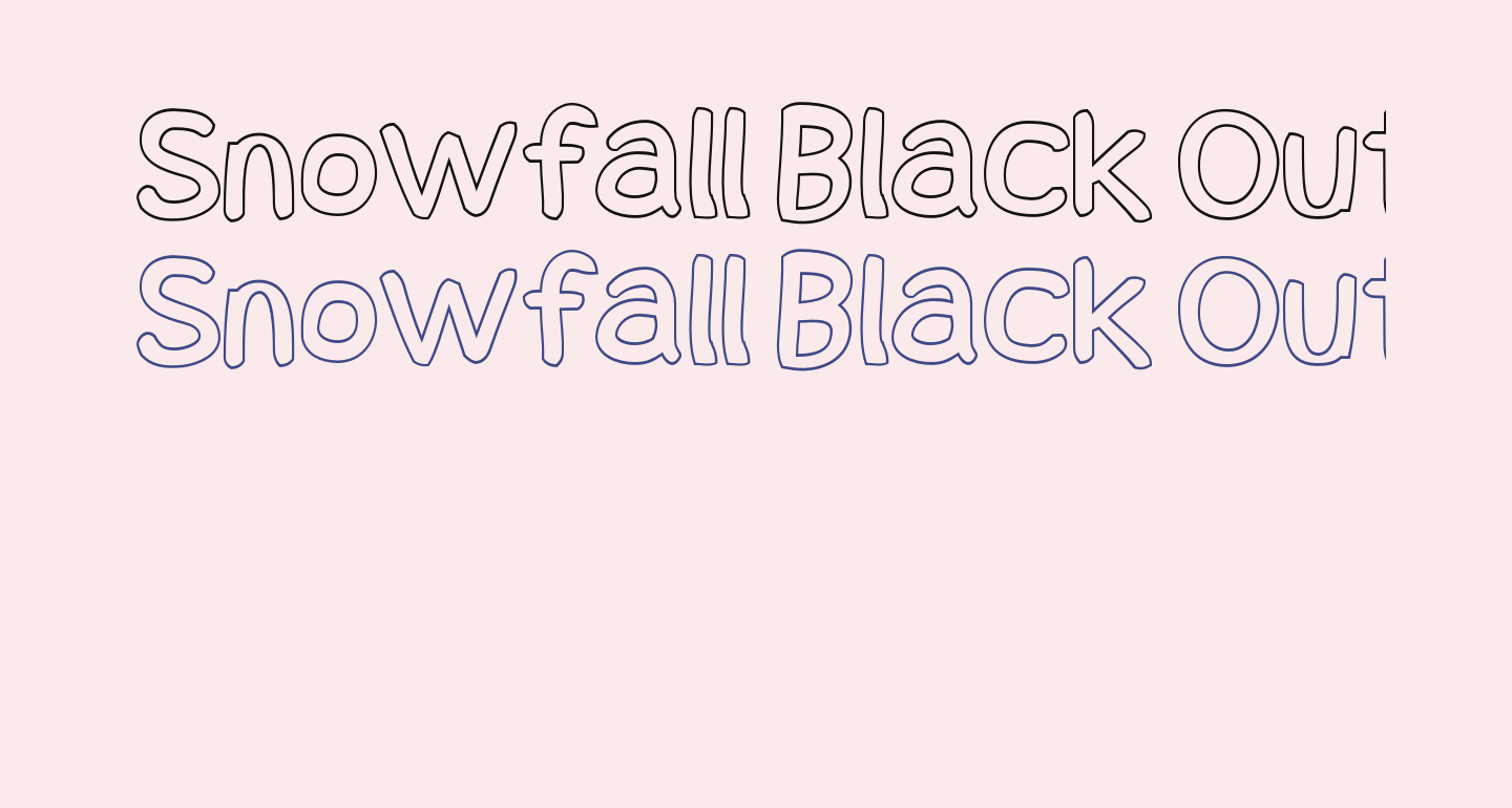 Snowfall Black Outline
