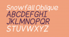 Snowfall Oblique