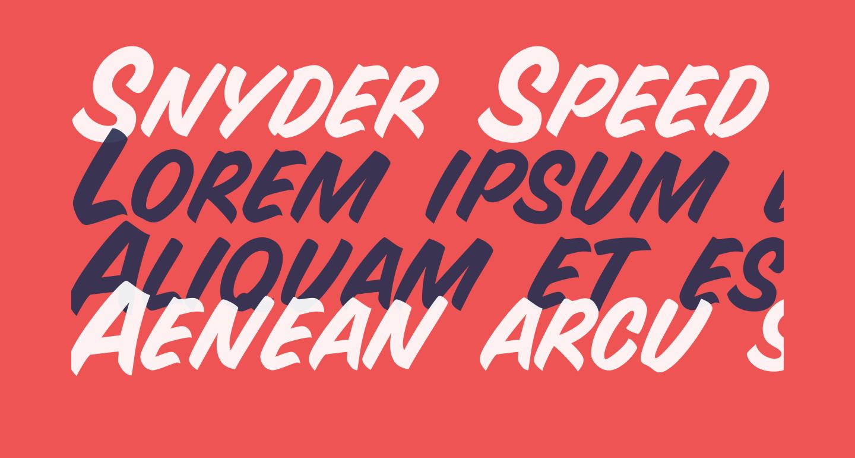 Snyder Speed Brush