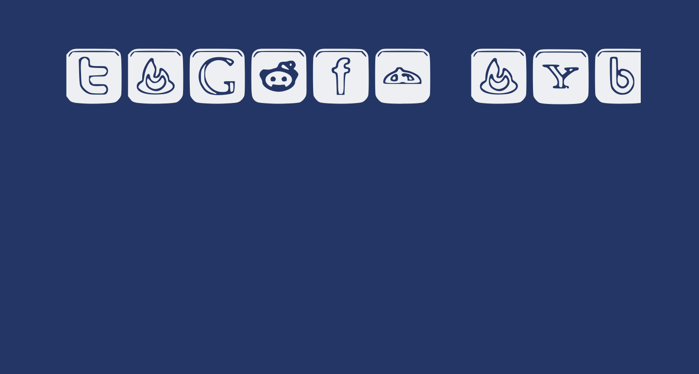 SOCIAL OUTLINE ICONS