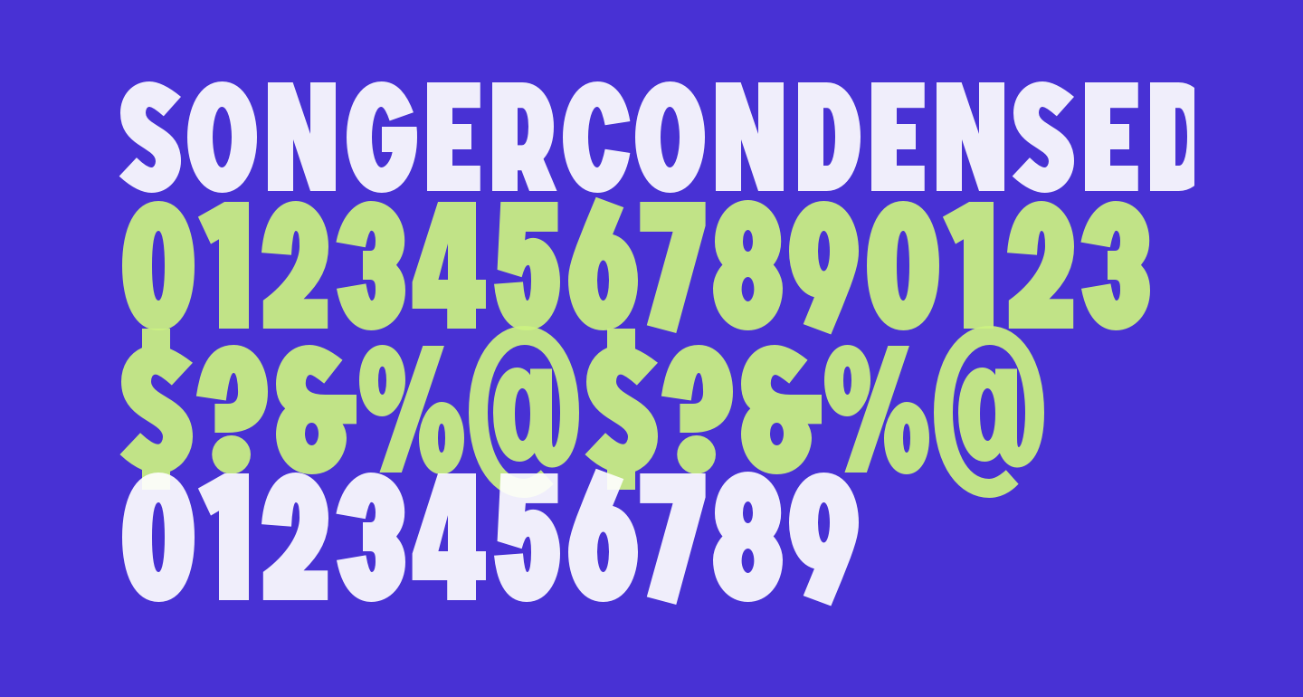 SONGERCondensed-Heavy