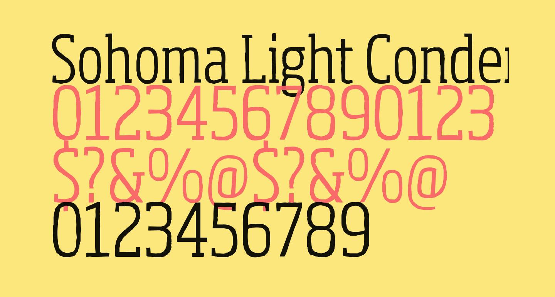 Sohoma Light Condensed