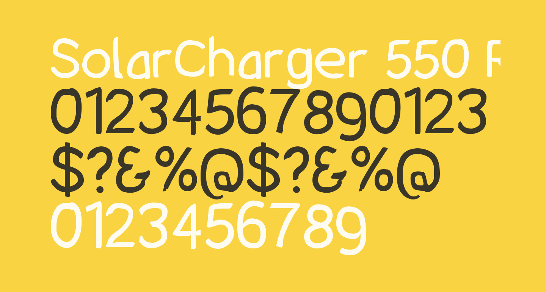 SolarCharger 550 Regular