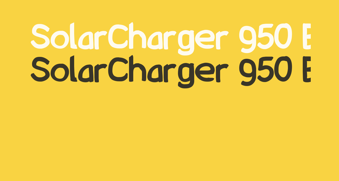 SolarCharger 950 Black