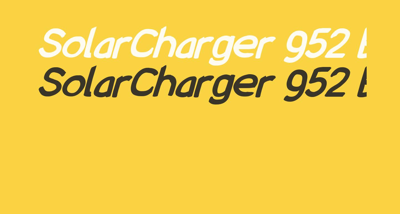 SolarCharger 952 Black Oblique