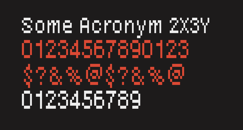 Some Acronym 2X3Y
