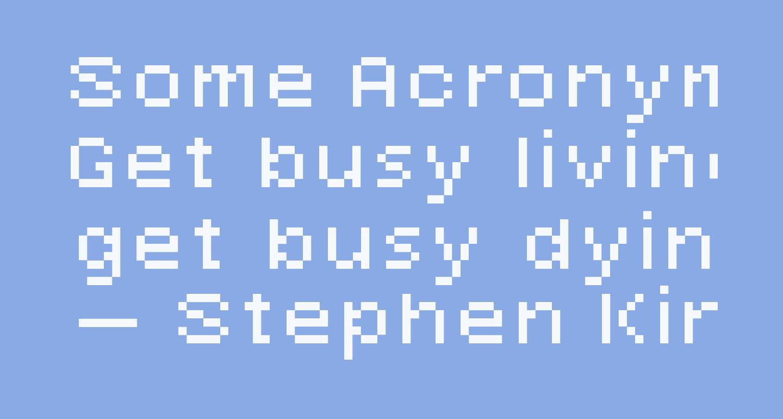 Some Acronym Raw