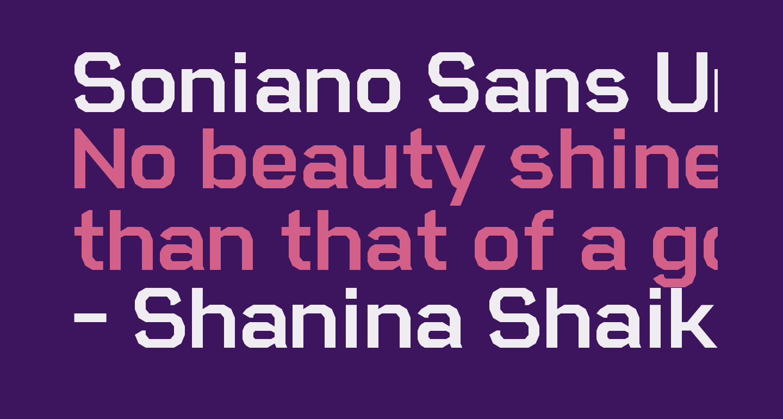 Soniano Sans Unicode Regular