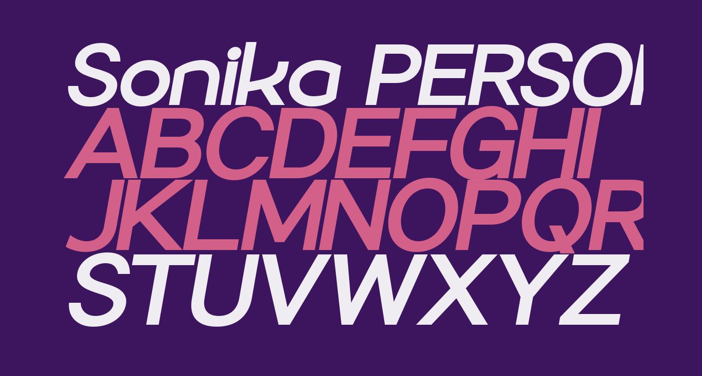 Sonika PERSONAL USE Bold Italic