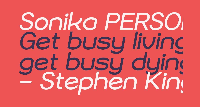 Sonika PERSONAL USE Regular Italic