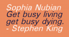 Sophia Nubian Italic