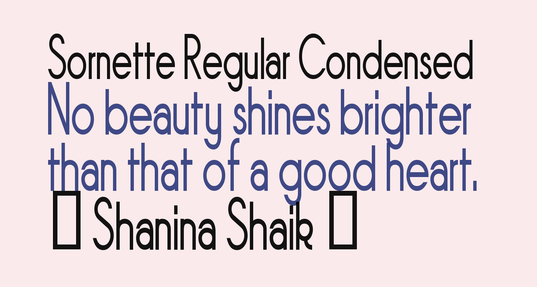 Sornette Regular Condensed
