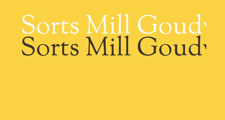 Sorts Mill Goudy TT