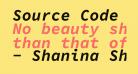 Source Code Pro Bold Italic