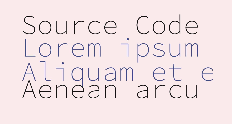 Source Code Pro ExtraLight