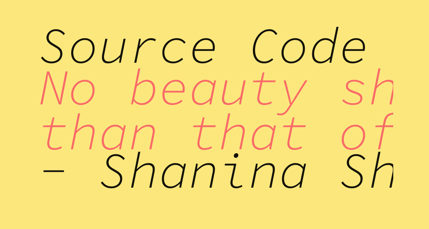 Source Code Pro Light Italic