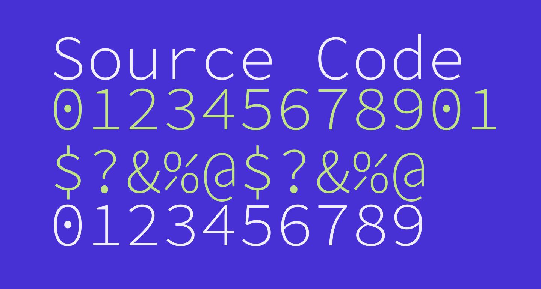 Source Code Pro Light