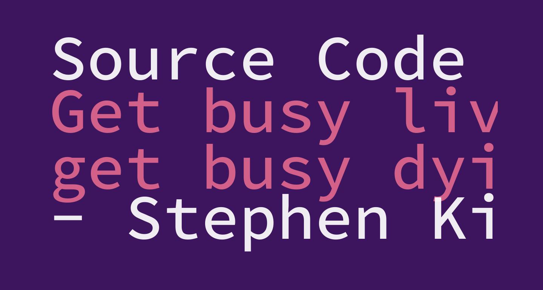 Source Code Pro Medium