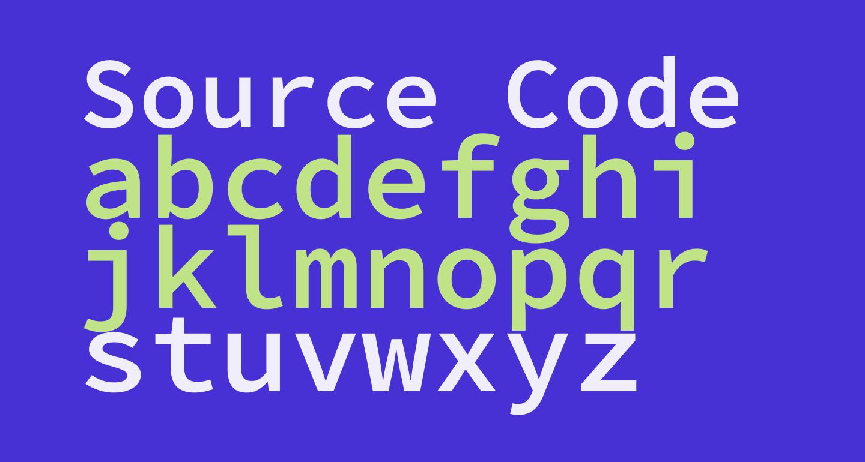 Source Code Pro Semibold