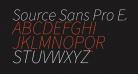 Source Sans Pro ExtraLight Italic
