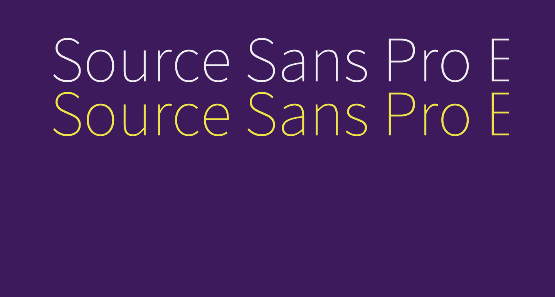 Source Sans Pro ExtraLight